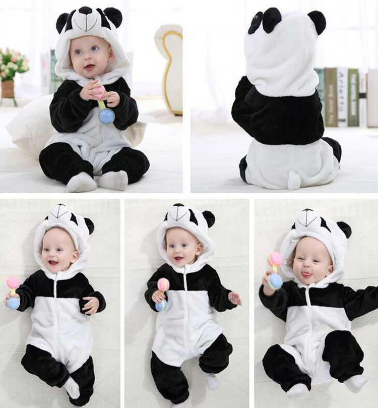 Kawaii Hello Kitty Panda Baby Girls Clothes Animal Baby Rompers Costume Winter Fleece Clothes For Boys Warm Snowsuit Jumpsuit (6)