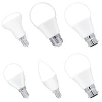 6PCS/PKG Indoor Lighting Bulb 4.5W C37 R50 E14 8W A60 E27 3W P45 LED Bulb Lamp Energy Save 200 240V Natural Warm Cold White