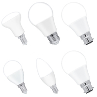 6PCS/PKG Indoor Lighting LED Bulb 4.5W C37 R50 E14 8W A60 E27 3W P45 LED Bulb Lamp Energy Save 200 240V Natural Warm Cold White