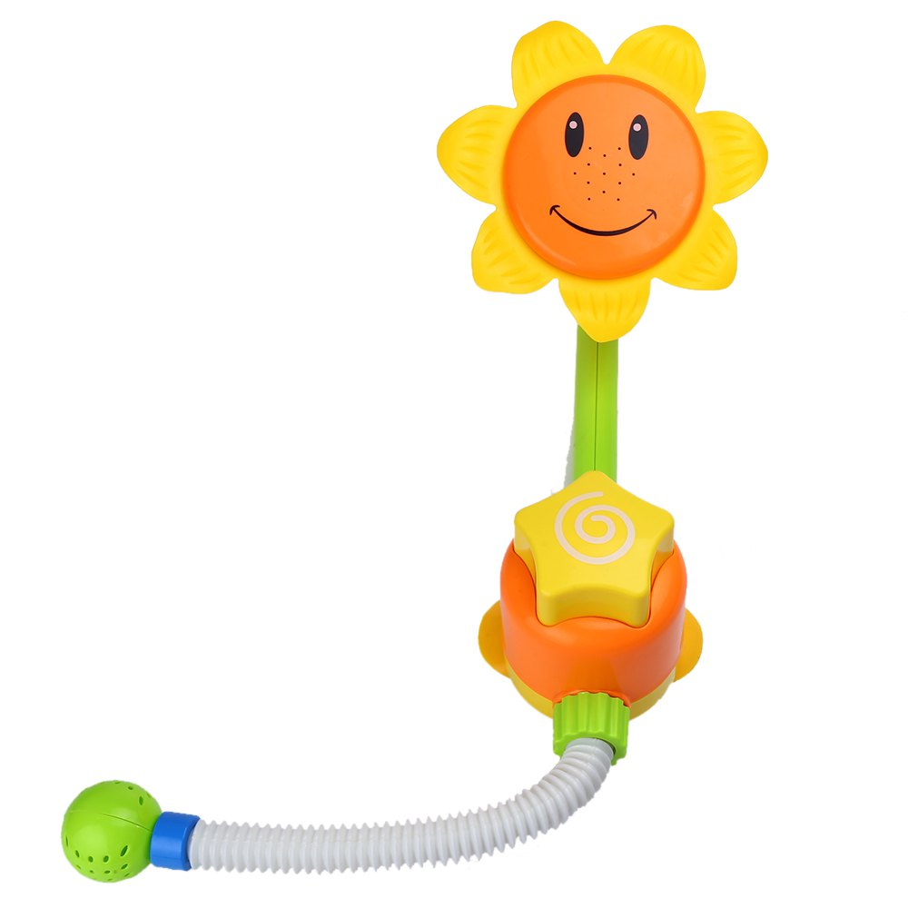 Funny Baby Bath Toys Children Sunflower Shower Faucet Learning Toy Automatic Play Spout Water Spraying Tool Gift Kids In From