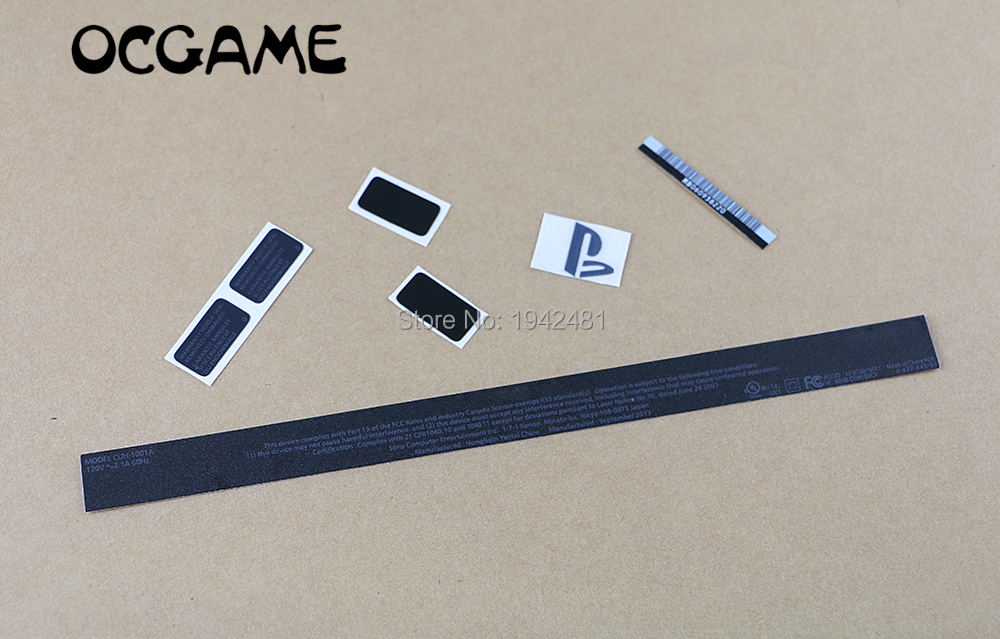 OCGAME 5sets/lot High Quality Black Housing Shell Sticker Lable Seals For Ps4 Housing Case CUH-1001A
