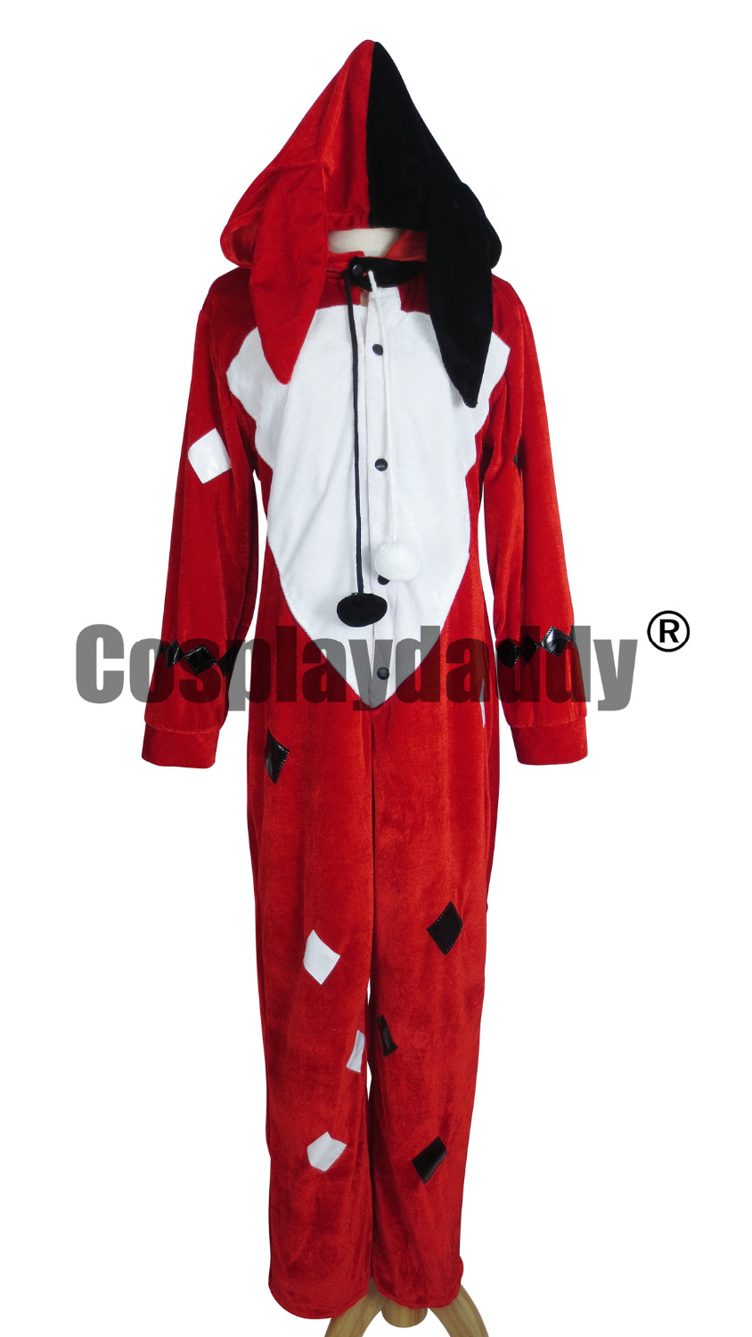 Batman Harley Quinn Red Pajama Cosplay Costume F006