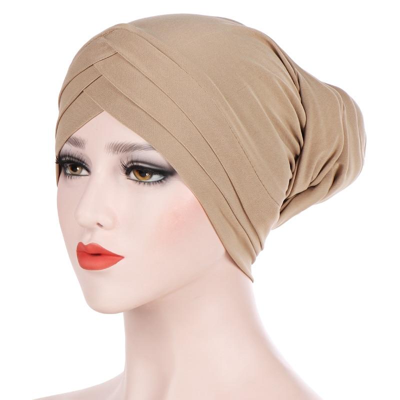 1pcs Moslem Islam Kopftuch Bedeckung Turban Stirnband Bandana Kappe Hut Mütze