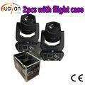 2 шт. свет с футляром для полета DJ DMX512 200 Вт Светодиодный прожектор/моющийся движущийся головной свет 2в1/фокус/3-Faces Gobo Light