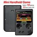 Встроенная 168 игр Ретро портативная мини портативная игровая консоль 3 0 дюймов цветной lcd Детский Цветной игровой плеер встроенный литиевый...