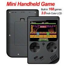 168 встроенных игр портативная мини консоль для в ретро стиле