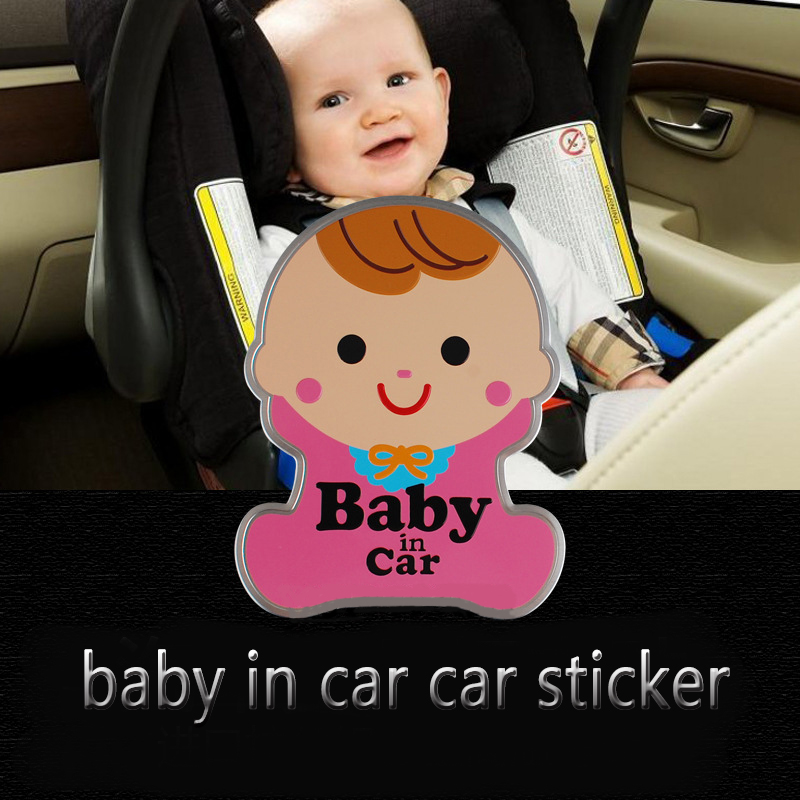 Best 1PCS BABY IN CAR attention decals safety Warning Decal New Reflect Car Stickers for Family Car Driving of Baby Protection