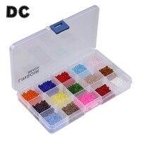 DC 1 hộp/lô 15 Colors 4 mét 6 mét 8 mét Áo Pha Lê Bicone hạt Rondelle Glass Loose Spacer Beads đối DIY Jewelry Making nguồn cung cấp