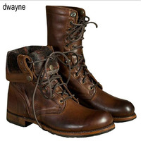 Winter Genuine Leather Ankle Boots Men Keep Warm Plush Martin Boots Split Leather Work Motorcycle Boots Plus Size 569