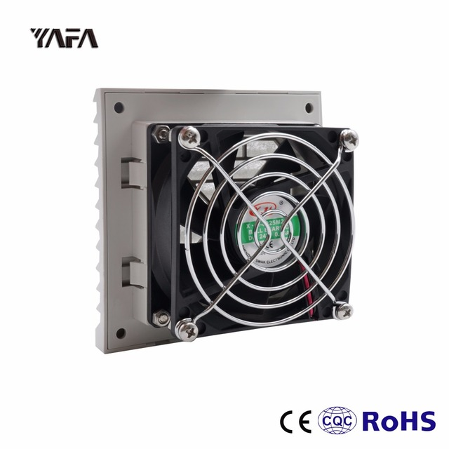 US $9 75 |FK6620 024 Filter With Fan Cabinet Ventilation Filter Set  Shutters Cover Fan Grille Louvers Blower Exhaust Fan Filter DC 24V-in HVAC  Systems