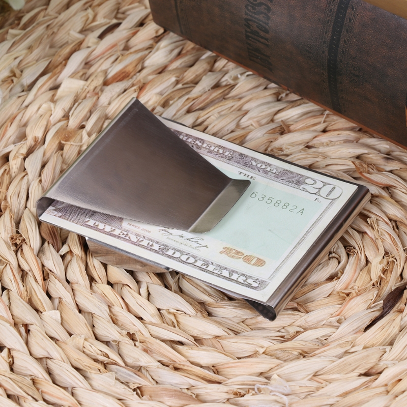 New Slim High Quality Slim  Credit Card Holder Wallet Stainless Steel