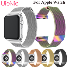 все цены на Milanese Loop Bracelet Stainless Steel band For Apple Watch series 1/2/3 42mm 38mm Bracelet strap for iwatch series 4 40mm 44mm онлайн