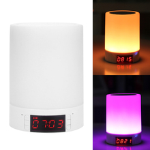 95mm x 95mm x 130mm Portable Wireless Bluetooth Mini Stereo LED Speaker Clock Alarm TF AUX Music Box Built-in Lithium Battery