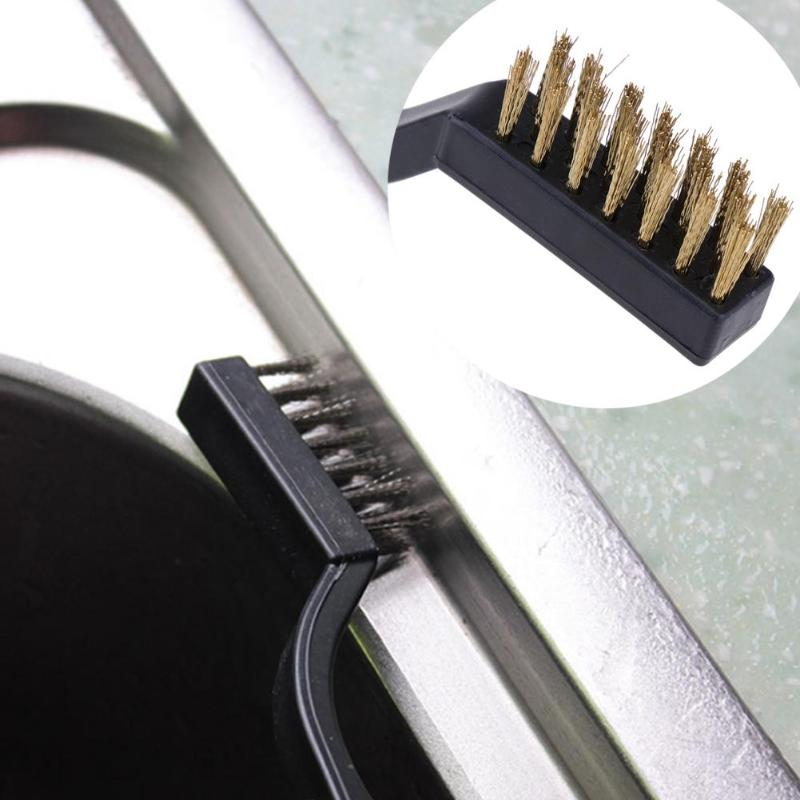 3pcs/set Mini Wire Brush Set Stainless Steel Cleaning Brushes Rust Removing Industrial Wire Toothbrush Nylon Brush for Kitchen