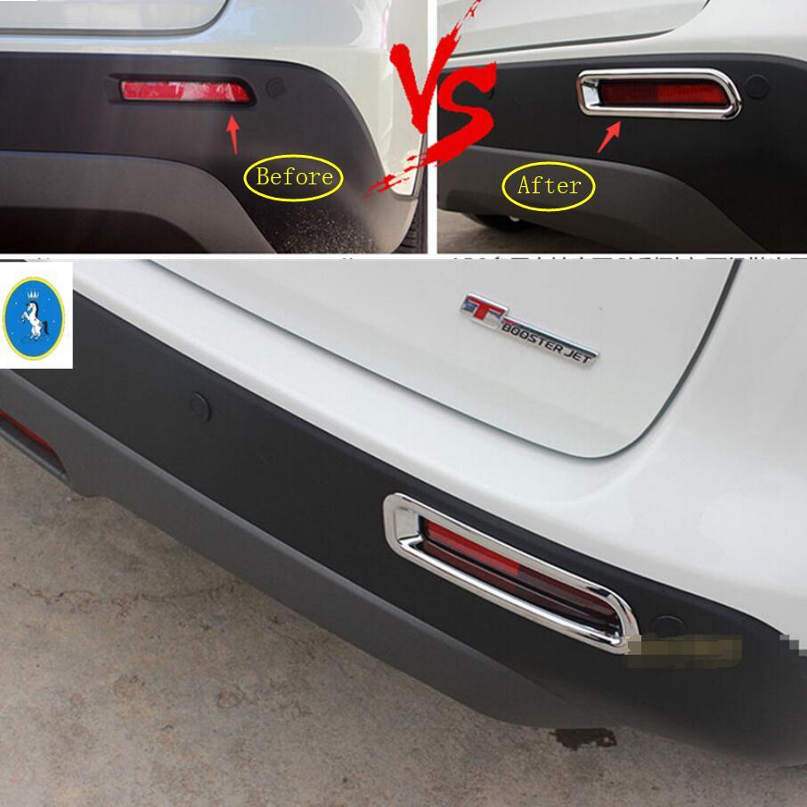 2Pcs Chromed Rear Tail Fog Light Lamp Cover Trim For Porsche Cayenne 2018-2019