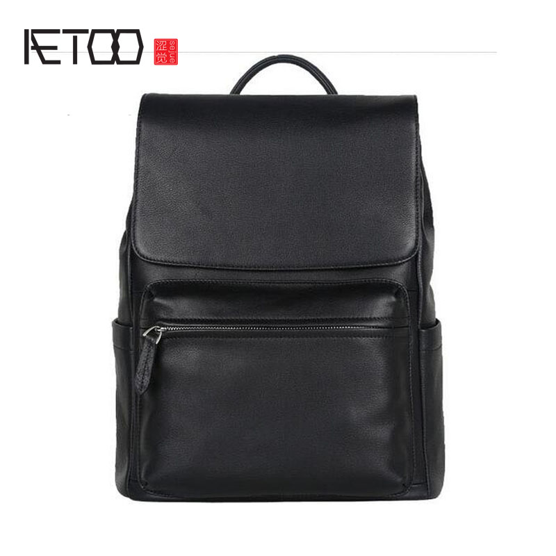 AETOO New men of the leather shoulder bag head leather travel computer backpack smc the new head of passing filter aff150a 40