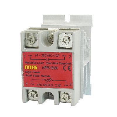 LED Indicator Solid State Relay HPR-10VA 470-560Kohm 2W 24-380V w Heat Sink