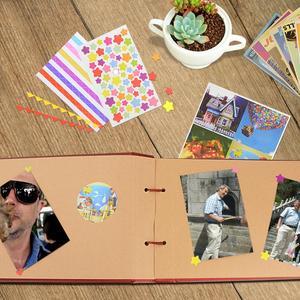 Image 5 - Vintage 80 صفحة كرافت الصفحات الورقية مجموعة من البطاقات لدينا بلدي مغامرة كتاب الألبوم مع اليدوية DIY بها بنفسك أداة صور صور سجل القصاصات ألبوم صور