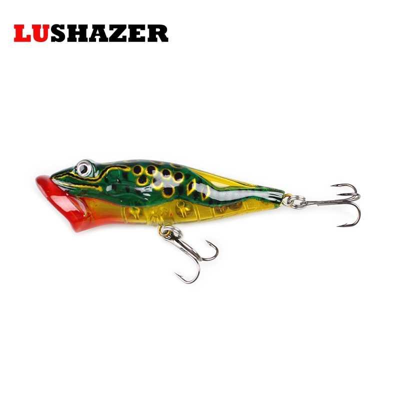 LUSHAZER popper pesca 12g 8 millimetri iscas artificiais para pesca esca dura pesce rana wobbler esche acqua salata arnesi da pesca