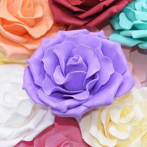 Image 2 - 10 個 10 センチメートル大泡バラ人工の花ウェディングパーティーの装飾diy花嫁のブーケスクラップブッキングクラフト偽花 8
