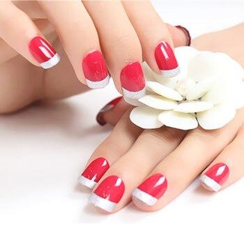 Vin rouge court paragraphe faux ongles nail patch 24 installé colle à ongles  conseils