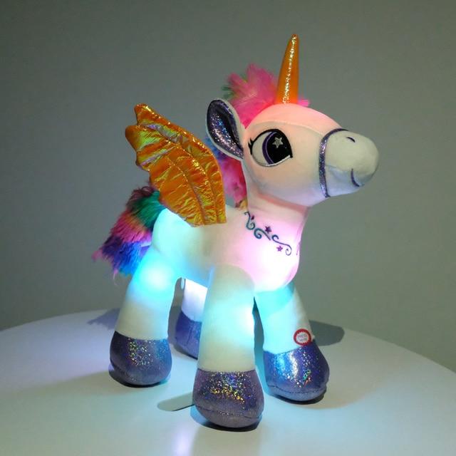 LED Rainbow Unicorn Plush Toys