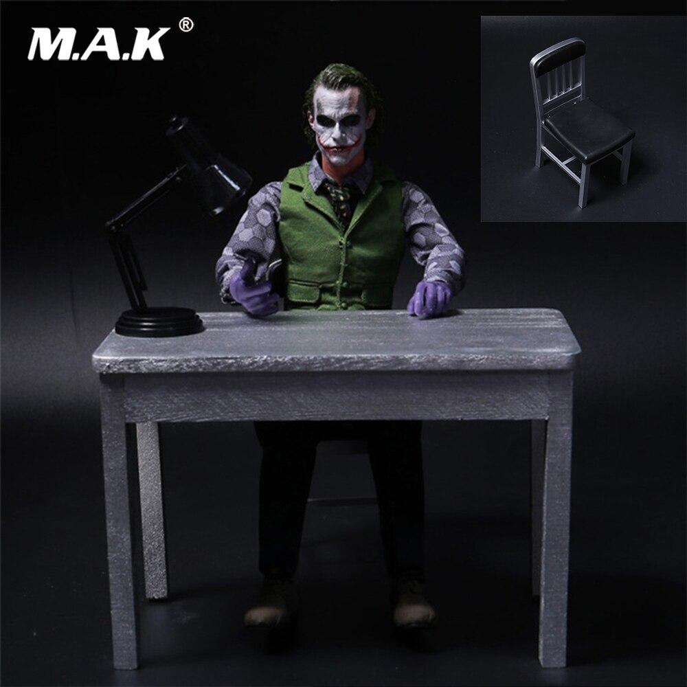 1//6 Furniture Accessories Table+Chair+Desk Lamp Model For 12/'/' Joker Figure Toys