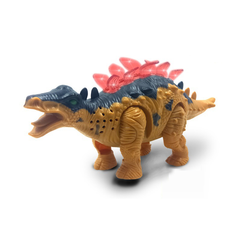 Electric Dinosaur Battery Operated Toy Figure Action Toy With Flashing Lights Voice Walk Removable Musical Baby Toys Girls Gift