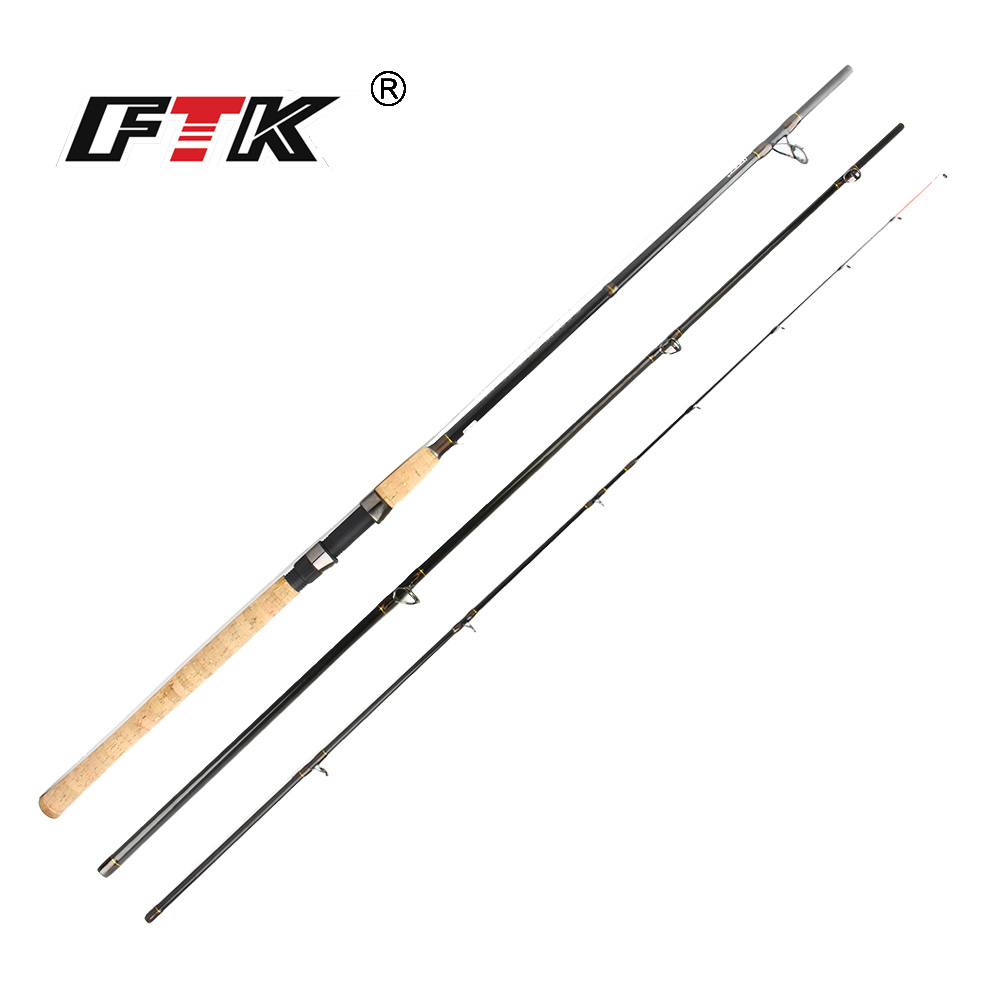 FTK Feeder High Carbon Super Carp 3 Sections 3.3M 3.6M 3.9M L M H Lure Weight 60-160g Feeder Fishing Rod Feeder Rod