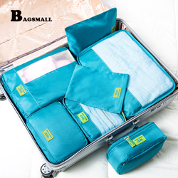 Bagsmall 7pcs set packing cubes waterproof nylon packing organizer for travel luggage suitcase with travel makeup.jpg 250x250