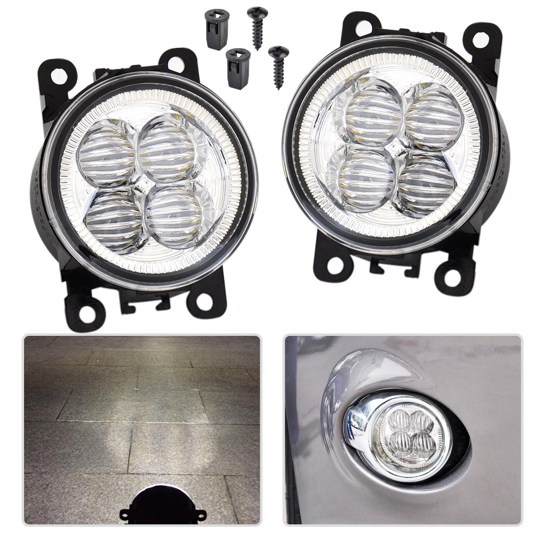 CITALL 2 pcs Souligné Blanc LED Brouillard Lumière Remplacement De La Lampe Fit pour Ford Focus C-max Acura Infiniti Honda nissan Subaru Suzuki