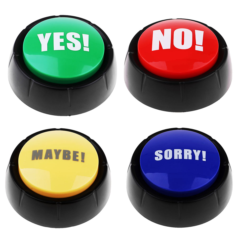 Yes No Sorry Maybe Sound Buttons Game Show Answer Buzzers Learning Resources Dome Shaped Button For Childred's Toys & Hobbies