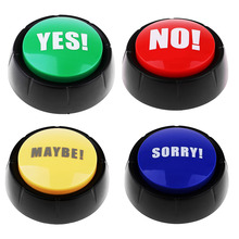 Yes No Sorry Maybe Sound Buttons Game Show Answer Buzzers Learning Resources Dome Shaped Button for