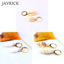 Boho Sea Shell Earrings Natural Conch Drop Ocean Beach Jewelry