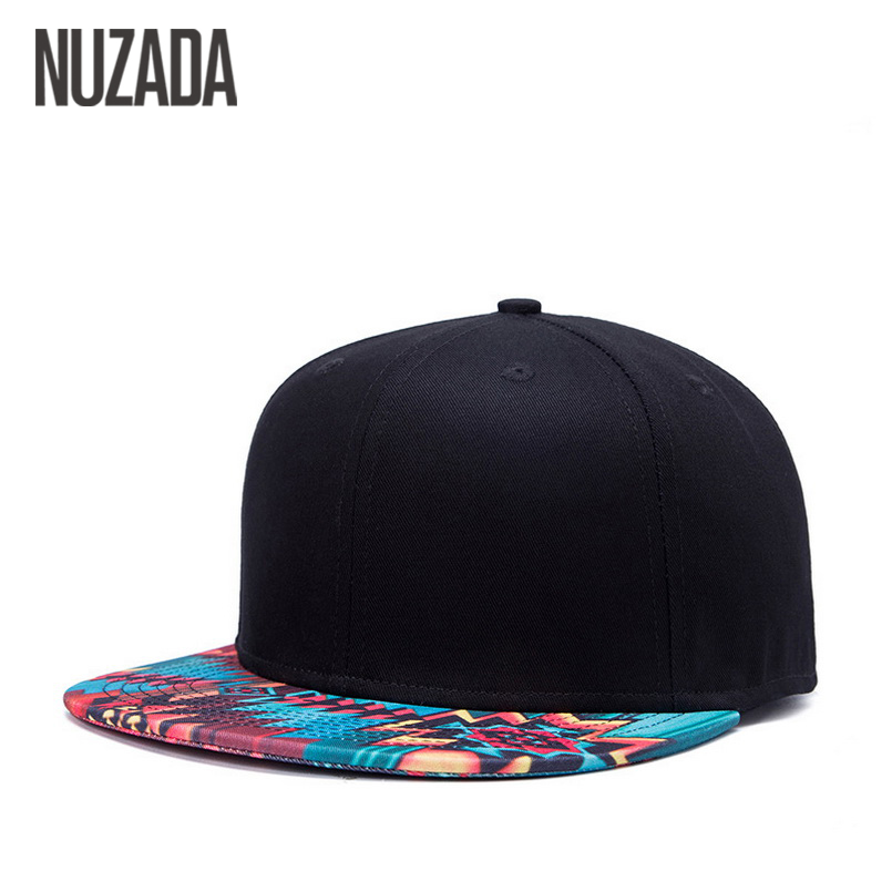 Brand NUZADA Unique Design   Baseball     Cap   For Women Men Bone Printing Pattern   Caps   Cotton Popular Street Art Hats Snapback