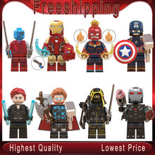 Finale Thanos Thor Iron Man Casquette Marvel Black Widow Ronin Avengers 4 Blocs De Construction Jouets pour Enfants WM6056(China)