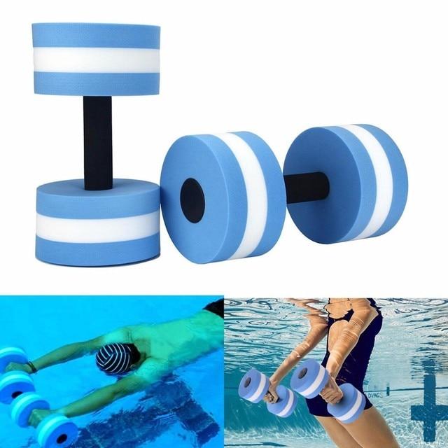 e030f4a7d71 Swimming Accessories Water Aerobics Dumbbell EVA Aquatic Barbell Fitness  Pool Swim Floating Exercise Training Fitness Equipment