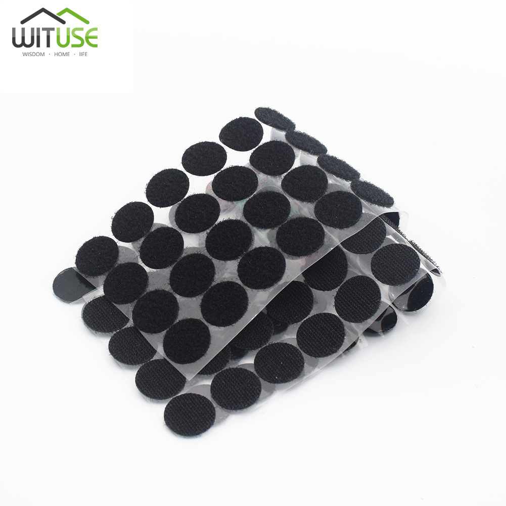Wituse 100pairs Useful Self-adhesive Double-sided Hair Sticker Nyloy Table Chair Feet Protection Pad Magic Stickers 25mm 30mm To Be Distributed All Over The World Apparel Sewing & Fabric