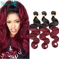 Ombre Brazilian Hair 6A Brazilian Virgin Hair Body Wave 3Pcs/Lot Cheap Ombre Human Hair Extensions Rosa Queen Hair Products