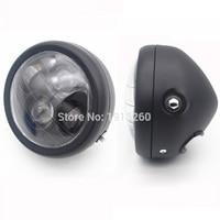 Black Motorcycle Bike Projector Daymaker LED 6 5 Head Light Lamp For Harley Bobber Chopper