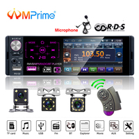 AMPrime Autoradio Car radio 1 din 4.1 touch screen auto audio Microphone RDS stereo bluetooth rear view camera usb aux player