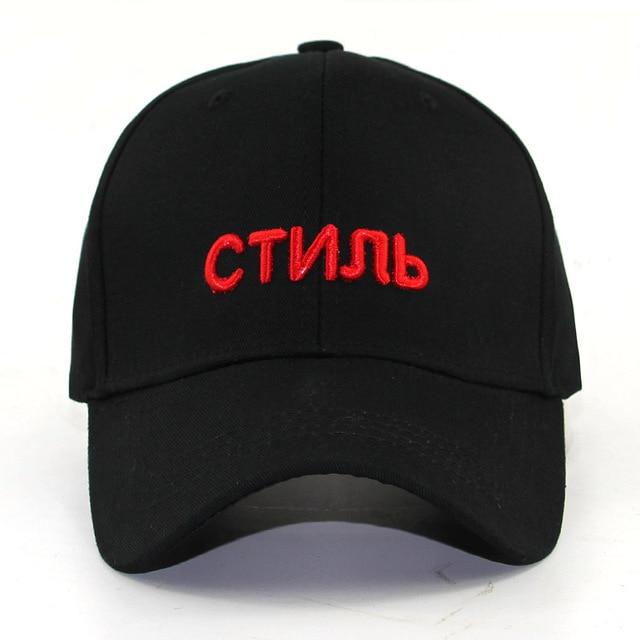 d12e19183b9 women men 3D embroidery Russia letter baseball cap unisex fashion cap hat  big bone snapback hats outdoor sports caps causal cap