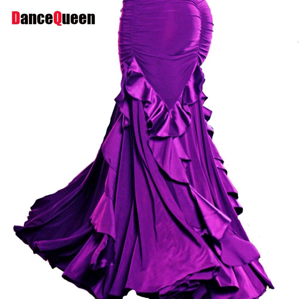 2017 Uus S-XXL tantsu seelik seelikud Modern tantsu treening seelik laiendamine seelik ballroom kleit flamenco seelikud Tasuta kohaletoimetamine
