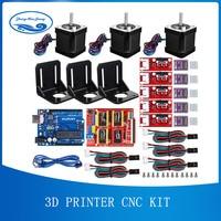 3D Printer CNC Kit,for Arduino GRBL Shield+UNO R3 Board+RAMPS 1.4 Mechanical Switch Endstop+DRV8825 Motor Driver+Nema 17 motor