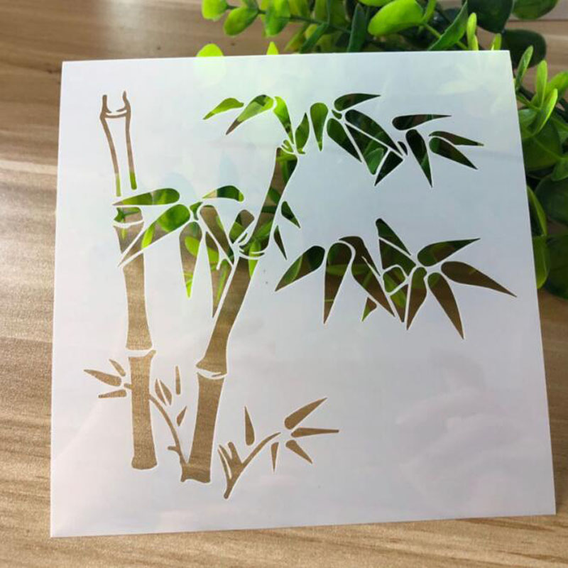 Stencils Template Drawing Bamboo Forest Painting Tools Photo Album Scrapbooking Diary Bullet Journal Templates Decor Reusable