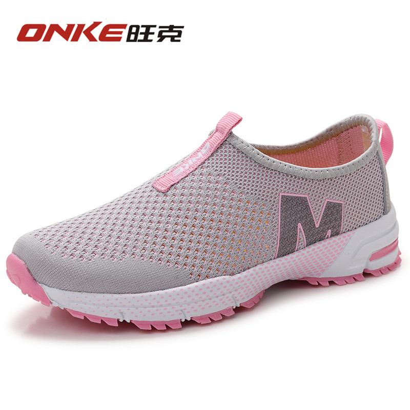 ONKE 2017 Hot Summer Net Surface Sneakers   Outdoor  Sports Shoes  Footwear  Breathable Good Quality Female Shoes