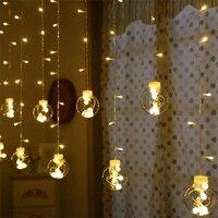 138 أضواء 2.5 متر * 1 متر بقيادة فانوس سلسلة أضواء الستار أضواء الرغبات الكرة زينة الزفاف إمدادات حزب بطارية ضوء