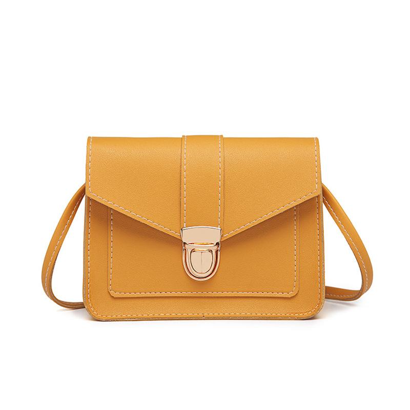 Fashion Small Crossbody Bags for Women 2019 Mini PU Leather Shoulder Messenger Bag for Girl Yellow Bolsas Ladies Phone Purse 4