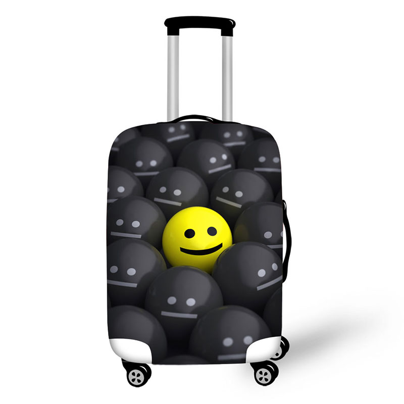 Travel Malas De Space Cover Waterproof Luggage Protective Dust Cover  For Suitcases 3D Face Expressions Luggage Cover