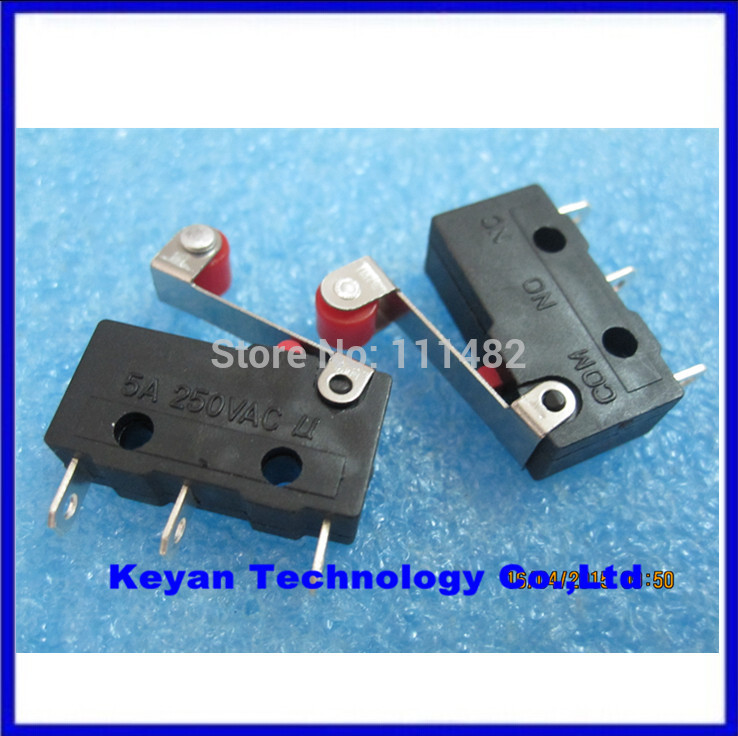 Open Close Limit Switch Wiring Diagram: 10pcs/lot New Micro Roller Lever Arm Normally Open Close